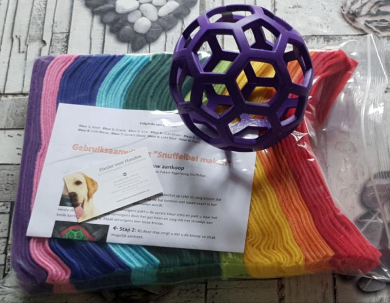 Doe-Het-Zelf-Maak Pakket Regenboog Snuffelbal Large