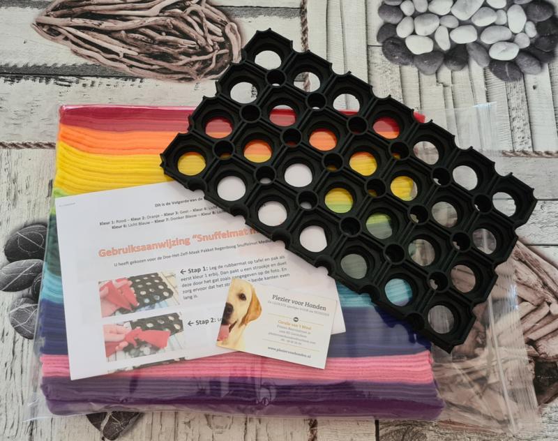 Doe-Het-Zelf-Maak Pakket Regenboog Snuffelmat Medium 16x28cm