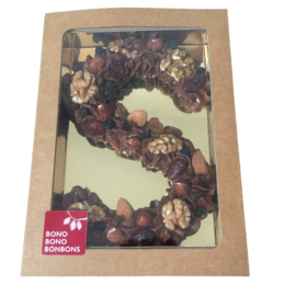 Bonbonletter van roomchocolade