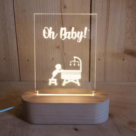 Geboortelampje Oh Baby