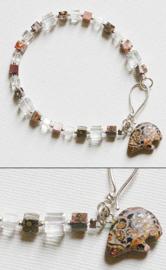 Armband Luipaardjaspis met Zuni beertje