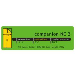Lowland Companion NC2 Slaapzak - 220X80 cm - nylon/katoen - 0°C