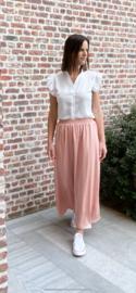 Lange rok dusty pink