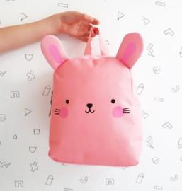 Rugzakje: konijntje roze