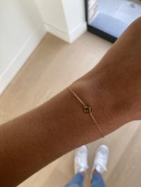Armbandje Camille lichtbruin