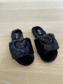 Slippers Annelien zwart