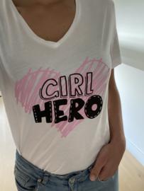 T-shirt 'Girl hero'