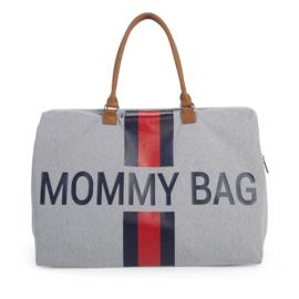 Mommy bag grijs strepen