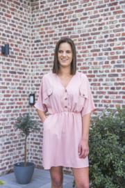 Kort kleedje dusty pink