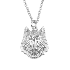 Ketting wolf zilver