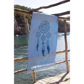 Strandlaken blauw dromenvanger