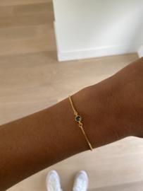 Armbandje Caroline blauw