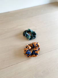 Set van 2 scrunchies peacock&swallow
