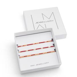 Set van 3 armbandjes Frederique