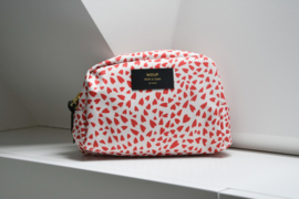 Hearts white make-up tas