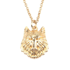Ketting wolf 18K goud