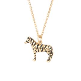 Ketting zebra 18K goud