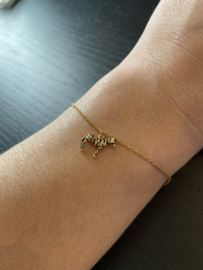 Armband zebra 18K goud