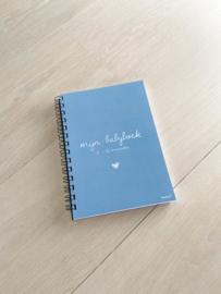 Baby boek 0-12 maanden blauw