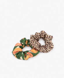 Set van 2 scrunchies Pink savannah&peach
