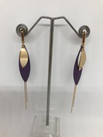 Hangers goud/paars
