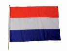 Vlag Holland + stok 45x30 cm