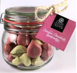 Snoeppot Onze Streek chocolade badeendjes baby roze