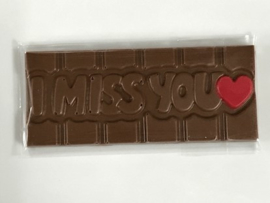 Chocolade reep I miss You