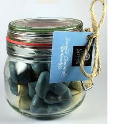 Snoeppot Onze Streek chocolade badeendjes baby blauw