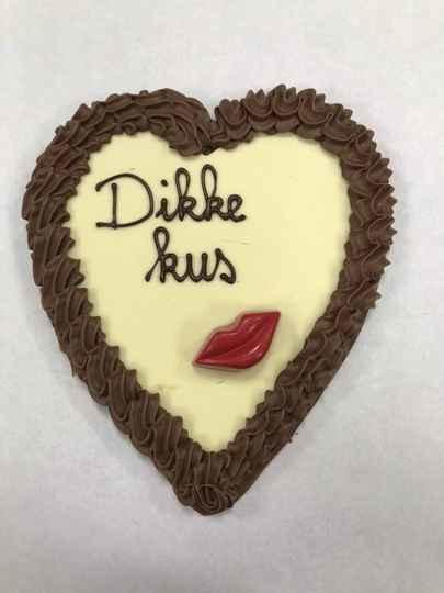 MEGA Chocoladehart Dikke Kus