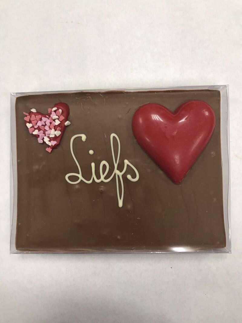 Valentijn Chocolade tegel Liefs