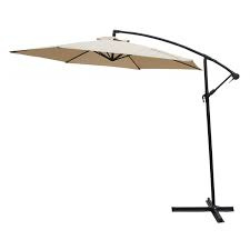 Hanging umbrella with cover CHAMPAGNE