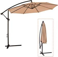 Hanging umbrella with cover TAN