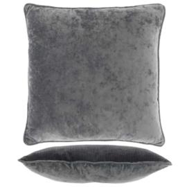 Kussen frey 45x45cm donker grijs