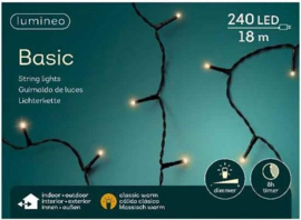 Lumineo Basic Strengverlichting Klassiek warm