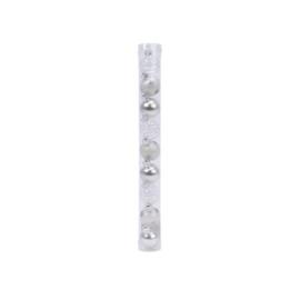 Decoris set van 9 kerstballen 3cm zilver glas