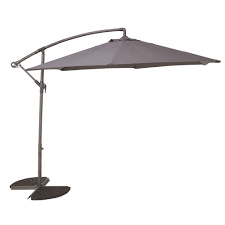 Hanging umbrella with cover ANTRACITE