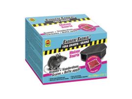 Compo  Barrière radikal toxa graantjes + voederdoos - muizen - 2x25gr + 2 boxen