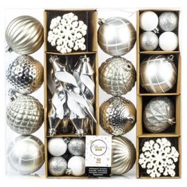Decoris Kerstballen - 50 stuks (Zilver)