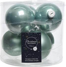 Decoris blue stone kerstbal glas