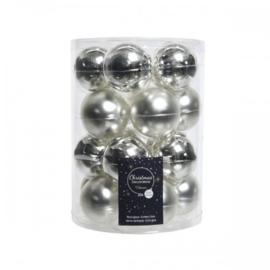 Decoris Kerstballen Zilver Glans-Mat Glas