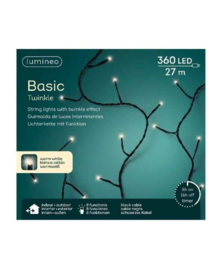 Lumineo Basic Twinkle Strengverlichting Klassiek warm