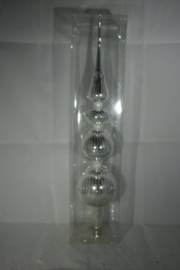 Decoris piek zilver 35cm glas