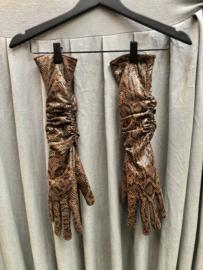 Ruby Leather Gloves | Gestuz