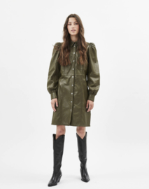Java Short Leather Dress | Minimum
