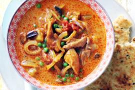 Indiase curry-kokossoep