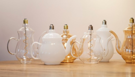 Led Teapot Earl Gold E27 4W, 190 lm, 2200k dimbaar