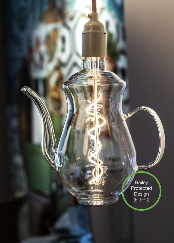 Led Teapot Chai Clear E27 4W, 240 lm, 2200k dimbaar
