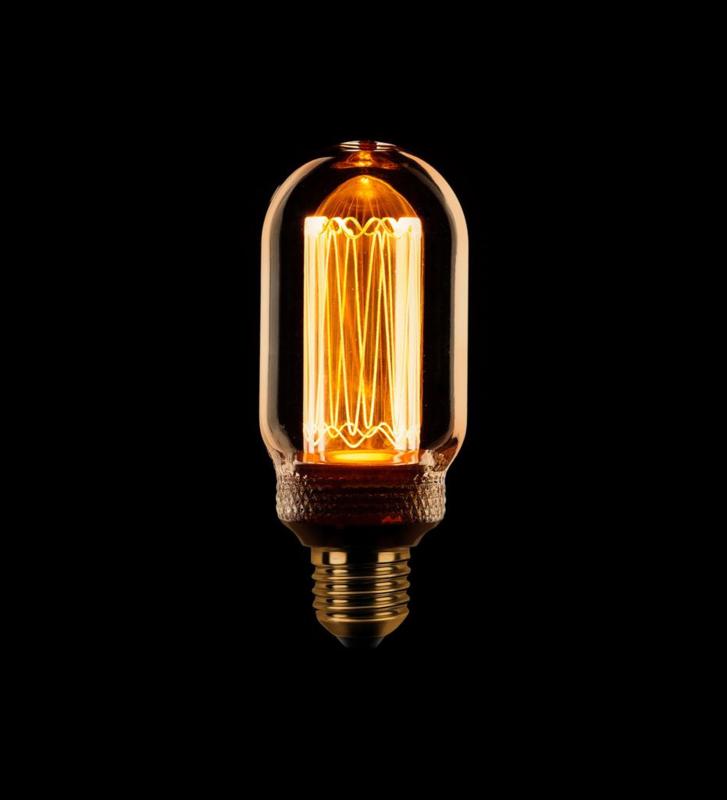 Led kooldraad buislamp E27 3.5w/13w, 120lm,  1800k dimbaar