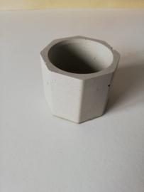Mini bloempot / waxinelichthouder van beton
